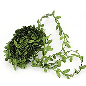 LEAFBABY 131 Feet Artificial Willow Leaf Foliage Vines Ivy Garlands for Home Garden Office Party Decorations and Wreath Handcrafts By 28