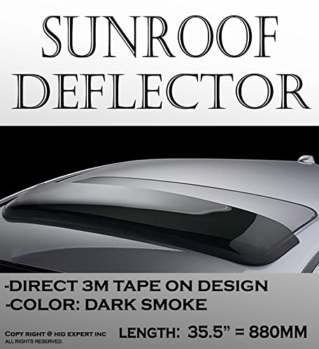 One pc JDM 35 INCH 880mm OEM Moon Sun Roof Visor Wind Deflector RAIN GUARD Block Wind with 3M tape