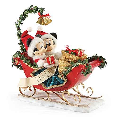 Mickey Mouse Christmas Figurine - Department 56 Possible Dreams Sleigh Bells Figurine
