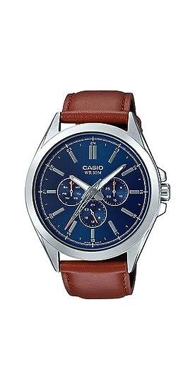 Casio mtp-sw300l-2av hombre Precisionist barrido de segunda mano reloj multifunción de acero inoxidable: Amazon.es: Relojes