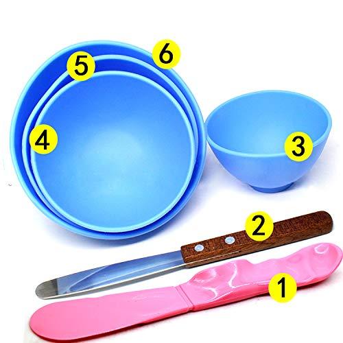 Bonew 4 Stück Dental-Kunststoffmischung Alginat Modellierschnitzer, Gummi Gipsschüssel + 2 Rührspatel