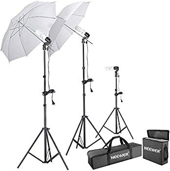 Neewer 600W 5500K Photo Studio Umbrella Continuous Lighting Kit