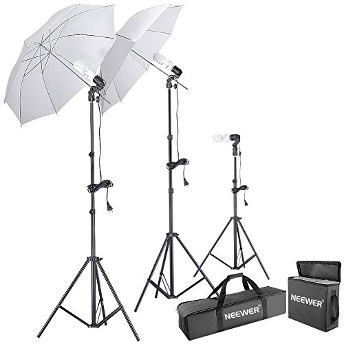 Neewer 600W 5500K Photo Studio Day Light Umbrella Continuous Lighting Kit (Kit Studio Lighting)