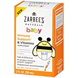 Zarbee's Naturals Baby Immune Support & Vitamins Supplement, Natural Orange Flavor, 2 Fl. Ounces