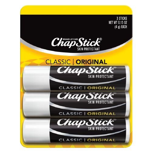 - 2 Pack of 3 ChapStick Classic Original Flavor 0.15 Ounce Lip Balm Tube