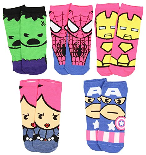 Marvel Womens Superhero Character Socks 5 Pair for $<!--$5.29-->