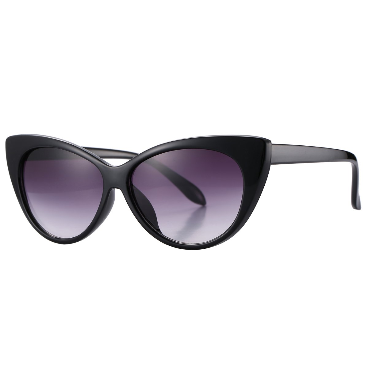 c9cee173d7 Pro Acme Super Cute Vintage Inspired Fashion Mod Chic High Pointed Cat Eye  Sunglasses (Black Frame Grey Lens)