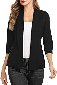 Women's Gorgeous Jackets,KIKOY Ladies Long Sleeve Lace Blazer Suit Casual Coat