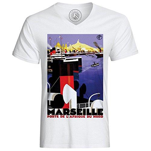 T-Shirt Marseille Porte Afrika Nord Frankreich Vintage alte Hafen Boot Boot