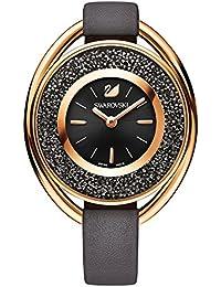Ladies Swarovski Crystalline Oval Gray Tone Watch 5230943