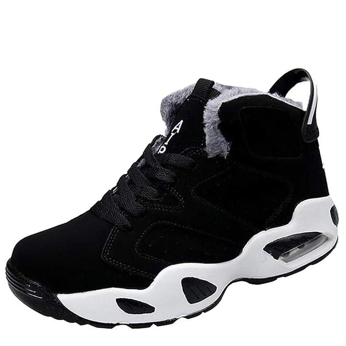 Zapatillas Deportivas Zapatillas De Piel Sintética Con Forro De Piel De Imitación Hombres Invierno Cálido Botines Al Aire Libre Casual Slip Shoes: ...