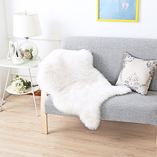 haocoo faux fur rug white shag fuzzy fluffy sheepskin kids carpet with super fluffy thick used. Black Bedroom Furniture Sets. Home Design Ideas