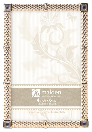 Malden Madeira Gold Metal Picture Frame, 4 by 6-Inch