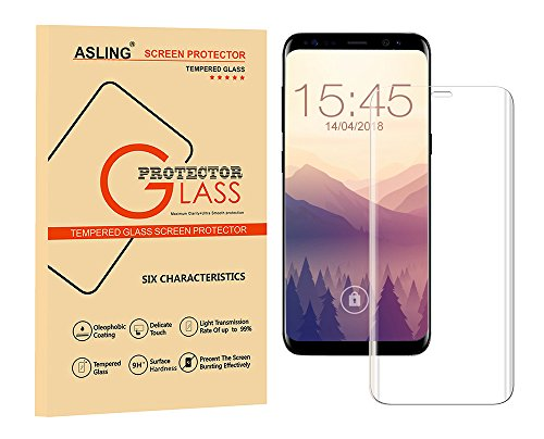 Galaxy S8 Plus Screen Protector, ASLING 3D Tempered Glass Full Coverage 9H Anti-Scratch for Samsung Galaxy s8 Plus