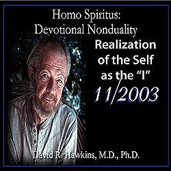 Homo Spiritus: Devotional Nonduality Series (Realization of the Self as the 'I' - November 2003)