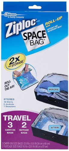 Space Bag Compressible Vacuum-Seal Travel Roll Bags, Set of 5
