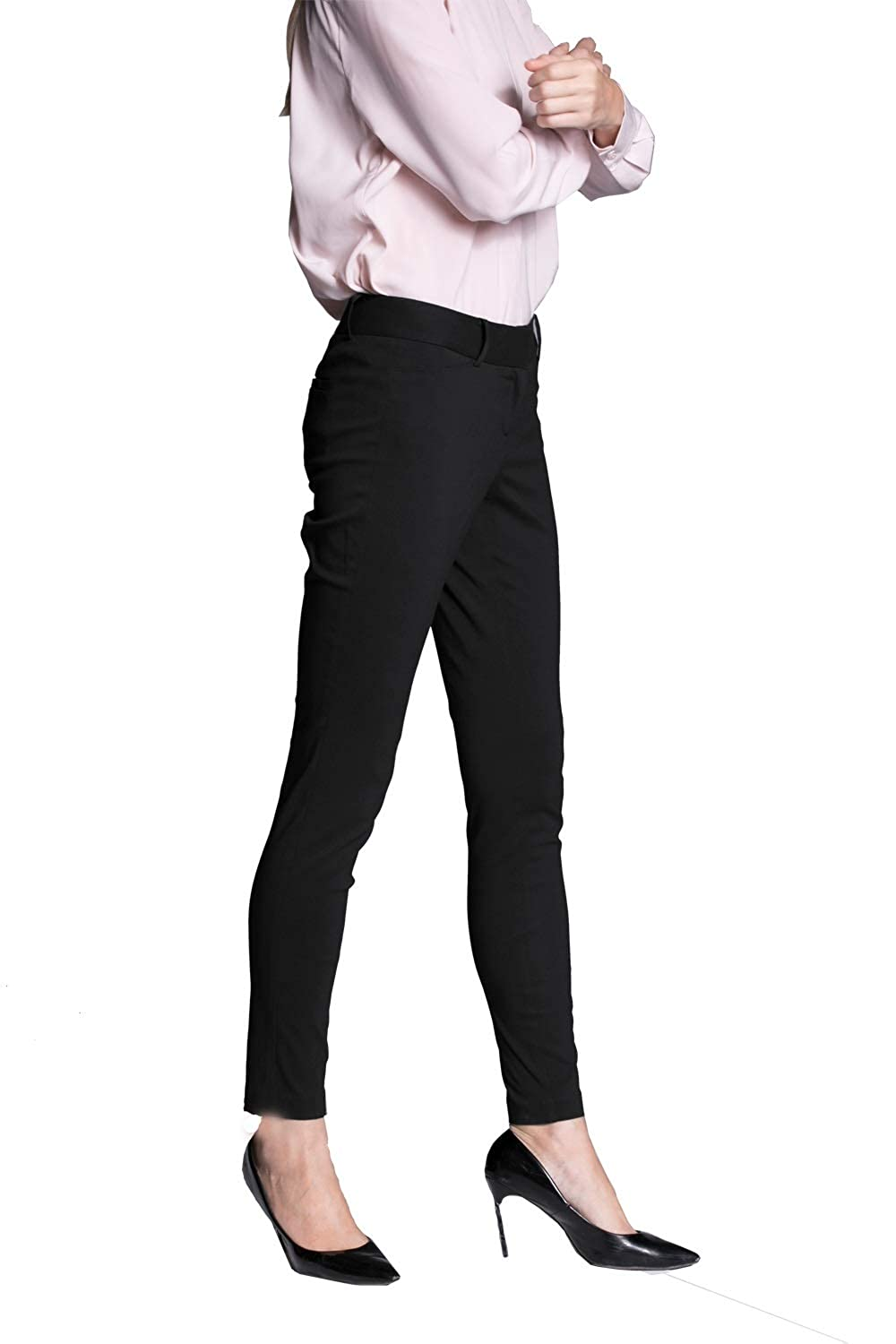 be86ed47f8 YTUIEKY Womens Dress Pants, Casual Slim Fit Super Stretch Comfy Skinny  Career Straight Fit Trouser Leg Pants at Amazon Women's Clothing store: