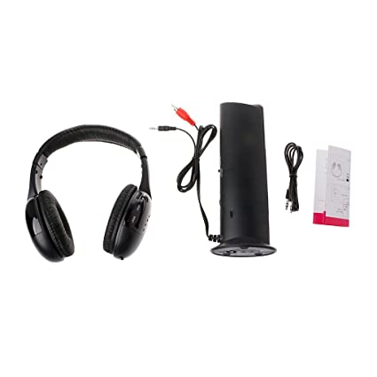 SMALLJUN 5 in 1 Hi-Fi Wireless Headset Cuffie Auricolare per PC Laptop TV  Radio ee273cfaee00