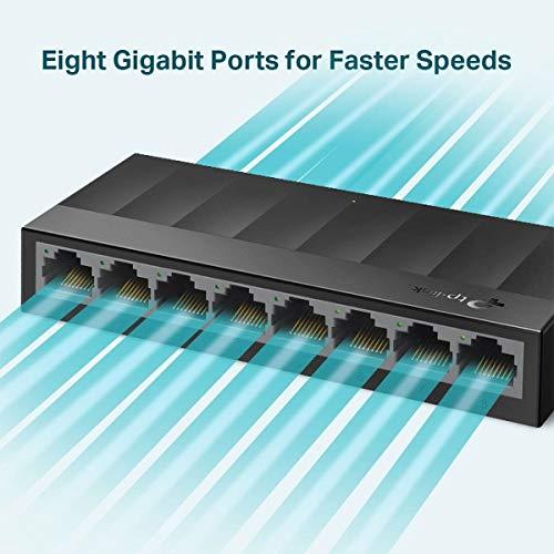 Switch Gigabit De Mesa Com 8 Portas 10/100/1000 Ls1008G Smb
