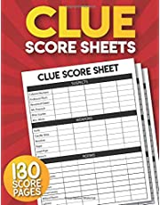 Clue Score Sheets: 130 Large Score Sheets for Scorekeeping | Clue Board Game Pads.