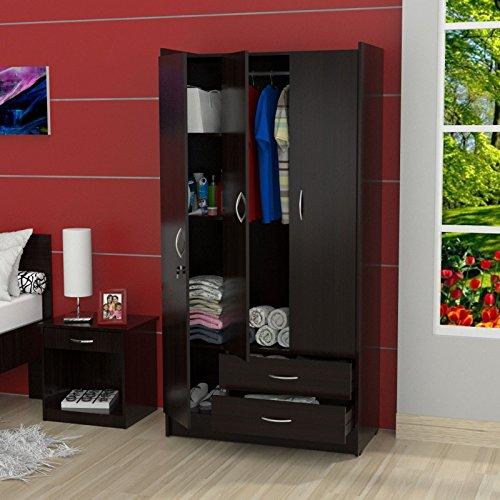 Cheap  Metro Shop Inval 3-Door Espresso Armoire