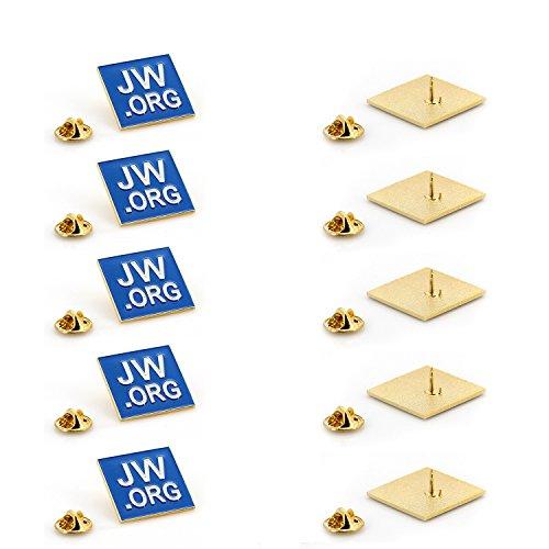 JW.ORG Square Gold Lapel Pin J