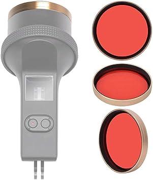 Topiky Fotografía de Buceo con Filtro Rojo de polarización con Estuche Impermeable para dji OSMO Pocket: Amazon.es: Electrónica