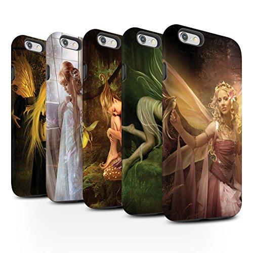 Officiel Elena Dudina Coque / Matte Robuste Antichoc Etui pour Apple iPhone 6+/Plus 5.5 / Pack 10pcs Design / Fées Élégantes Collection
