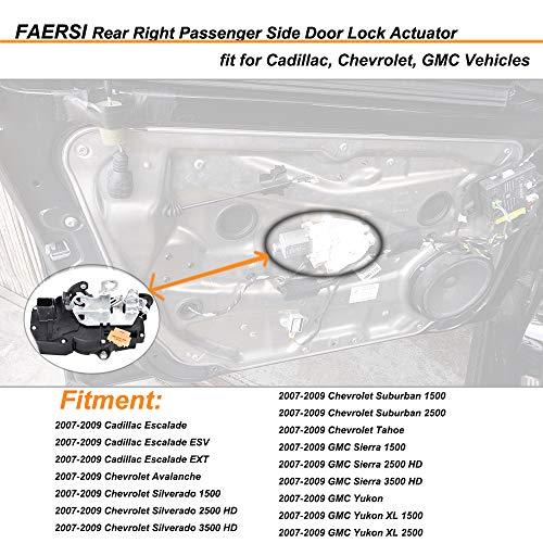 Power Door Lock Actuator Front Left Fits for 2007-2014 Cadillac Escalade 2006-2011 Chevrolet Impala 2007-2009 Chevrolet Silverado 2007-2013 Chevrolet Suburban 2007-2009 GMC Sierra 2007-2014 GMC Yukon