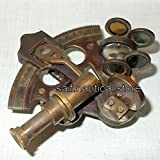 NAUTICAL ANTIQUE MARITIME BRASS SEXTANT VINTAGE COLLECTIBLE 3 INCH