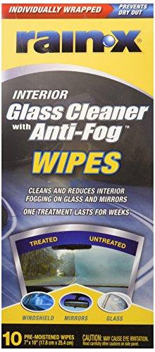"""Rain-X Cleaner Wipes W/Anti Fog 7"""" X 9"""""""