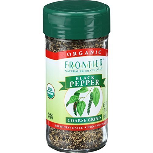 Frontier Natural Products Pepper, Og, Black, Crs Grind, 1.70-Ounce (Multi-Pack)