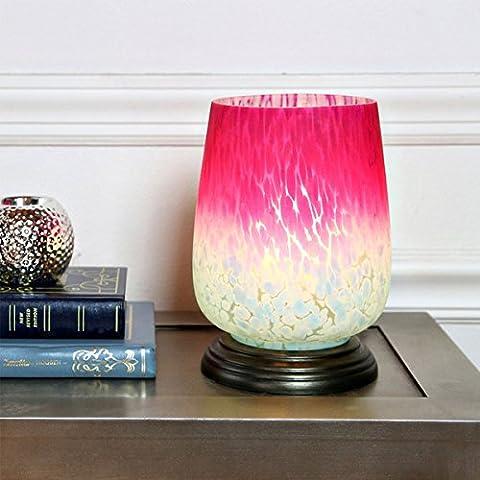 Magenta and Blue Glass Uplight Lamp (Magenta Lamp)