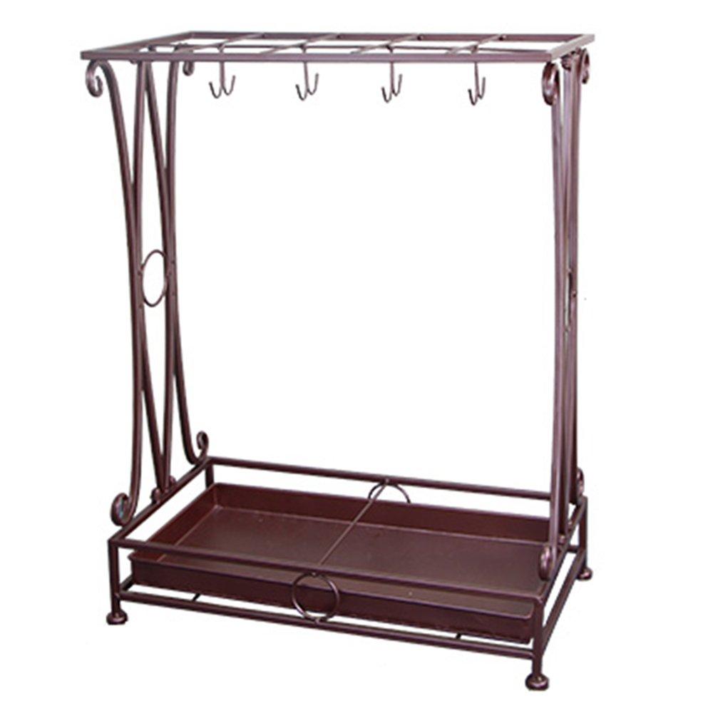 傘の家庭は地面に置く鍛造の傘のストレージ棚の玄関傘の樽のオフィスシンクの傘の場所のラック (色 : ブラス ぶらす, サイズ さいず : M) B07D1HJCK2ブラス ぶらす Medium