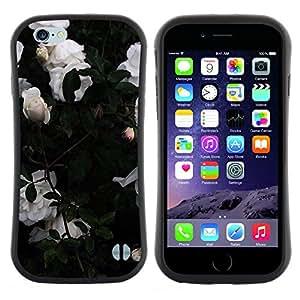 """Hypernova Slim Fit Dual Barniz Protector Caso Case Funda Para Apple (4.7 inches!!!) iPhone 6 / 6S (4.7 INCH) [Bush Rosas Las flores del jardín""""]"""