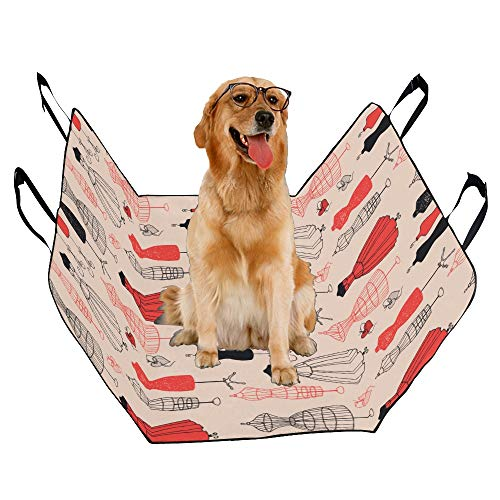 JTMOVING Fashion Oxford Pet Car Seat Mannequin Hand-Painted Hanger Waterproof Nonslip Canine Pet Dog Bed Hammock Convertible for Cars Trucks SUV ()