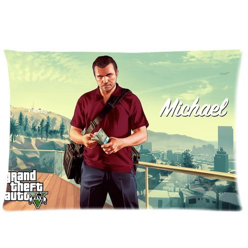 Bubble Cotton Bed (Home Decor Pillowcase Grand Theft Auto V Hot Game GTA5 Cotton Pillow Case Bed Sofa Cushion Decoration Pillow Cover 50x75cm)