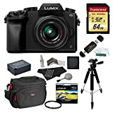 Panasonic DMC-G7KK Digital Single Lens Mirrorless Camera 14-42 mm Lens Kit, 4K + Starter Bundle + Transcend 64 GB High Speed 10 UHS3 + Polaroid 57″ Tripod + Polaroid 46mm UV Filter + Battery + Bag For Sale
