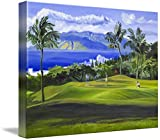 Wall Art Print entitled Wailea, Maui, Hawaii Golf Fine Art Giclee Print by Warren Keating | 48 x 36