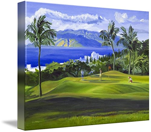 Wall Art Print entitled Wailea, Maui, Hawaii Golf Fine Art Giclee Print by Warren Keating | 48 x 36 by Imagekind