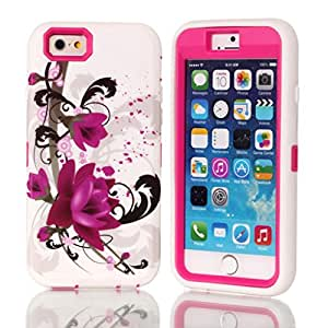 """iPhone 6 case,Ezydigital Carryberry iPhone (Plus"""") case,3 in 1 Shell Cover for iPhone 6 (Hot Pink)"""