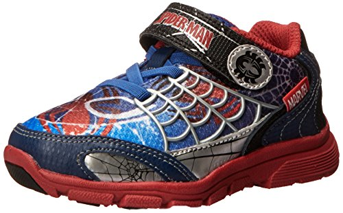 Stride Rite Spider-Man Spidey Sense Sneaker, Blue/Red, 6.5 M US Toddler -