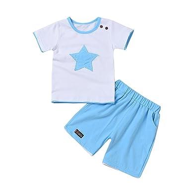 deb10a67c030 DAY8 Vetement Garçon 0 à 3 Ans Ensemble Enfants Garçon Pyjama Bébé Garçon  Naissance Ete Pas