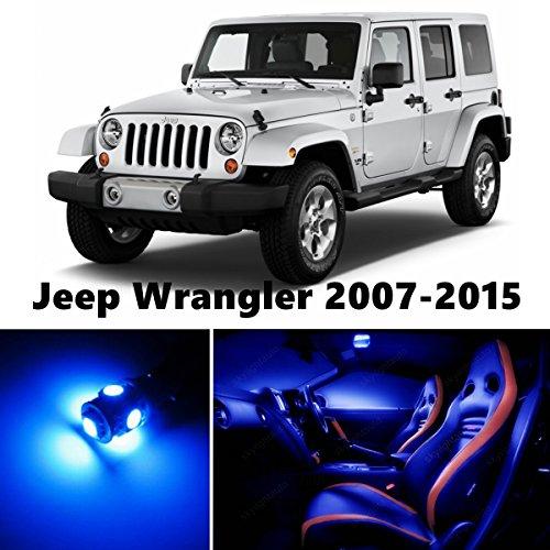 JK Jeep Wrangler LED Blue Interior Lights Package