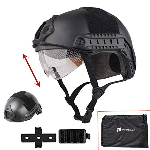 iMeshbean Airsoft Swat Helmet Combat Fast Helmet with Wing-Loc Adapter as a Gift -