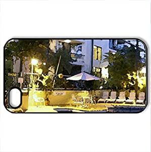 Aussei Resort - Case Cover for iPhone 4 and 4s (Modern Series, Watercolor style, Black)