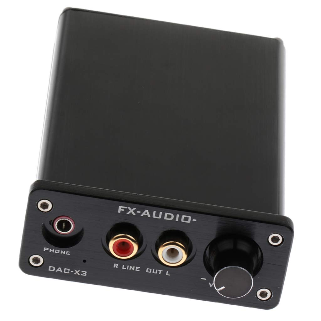 D DOLITY DAC CS4344 CS8416 USB Decodificador de Audio Digital Óptico Coaxial, Amarillo de Agudos y Graves