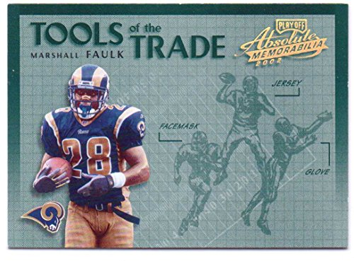 Marshall Faulk 2002 Playoff Absolute Memorabilia Tools of the Trade #TT-16 - St. Louis Rams, Indianapolis Colts