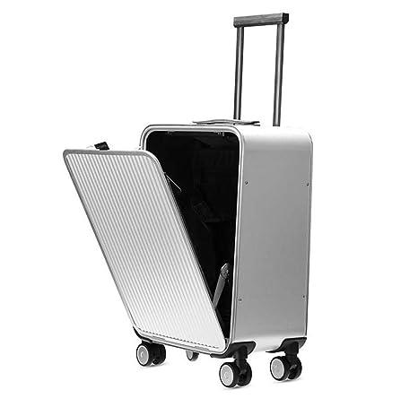 TINGTING Translite Cabina Maleta Trolley de aleación de Aluminio-magnesio Hardside Luggage Spinner 20inch Equipaje
