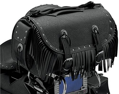 All American Rider Extra Large Traveler Bike Rack Bag - Rivet with Fringe (Rider Fringe)